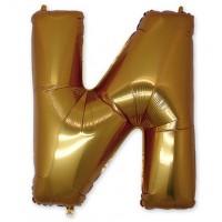 Фольгированная Буква И золото (102 см)